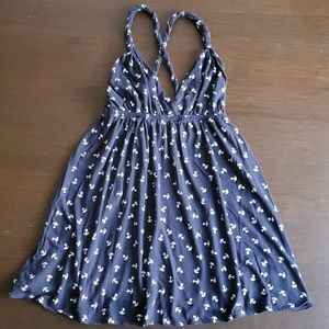 Navy blue anchor dress